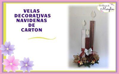 Ideas para navidad.  Adorno Navideño con velas de carton. COLABORACION NAVIDEÑA