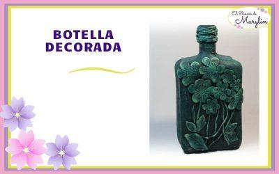 BOTELLA DE CRISTAL DECORADA facil