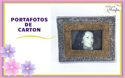 Como hacer MARCO para FOTOS de CARTON