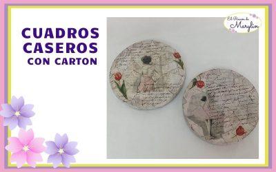 CUADROS CASEROS CON CARTON