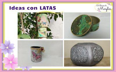4 Ideas para reutilizar latas de conserva
