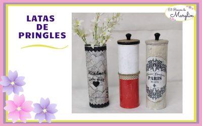 3 Ideas para reciclar LATAS de Pringles