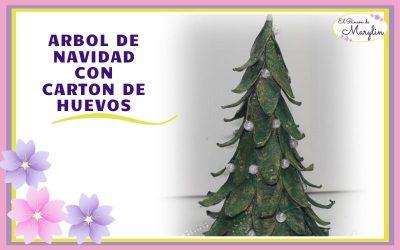ARBOL de NAVIDAD con CARTON DE HUEVOS