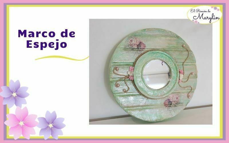 Marco de espejo con carton