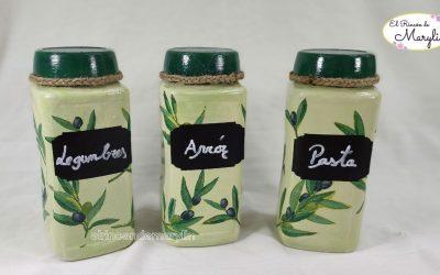 Cómo decorar frascos de vidrio con decoupage